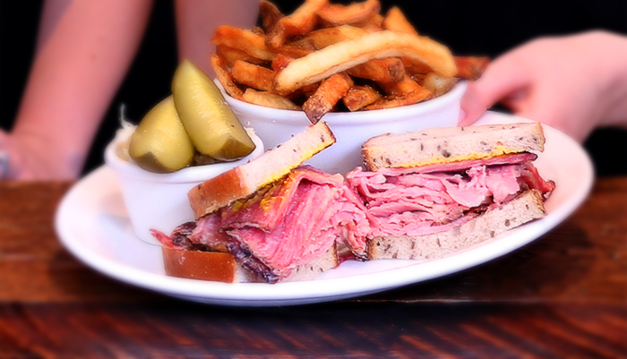 Nate's Deli Smoked meat sandwich classic